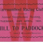 Hill to paddock Annual meeting 1901